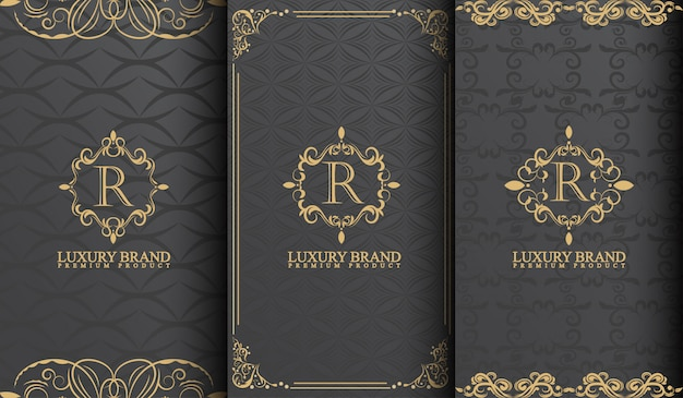 Set of luxury template