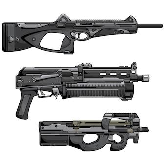 Set of  machine guns