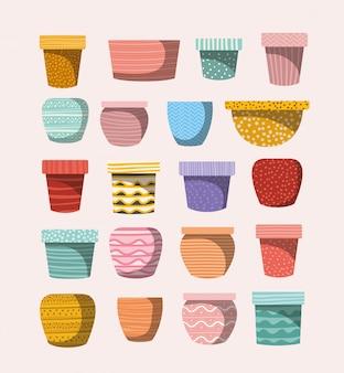 Set of macrame pots