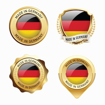 Set of made in germany badges