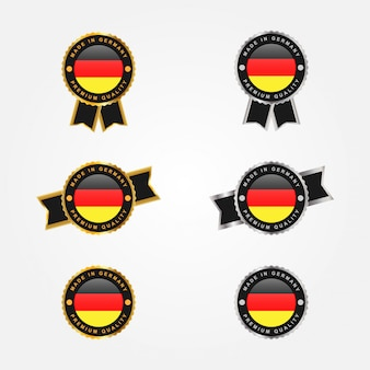 Set of made in germany emblem badge design