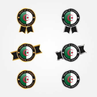 Набор сделано в алжире эмблема значок