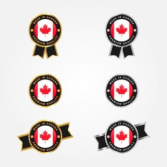 캐나다 엠블럼 배지 디자인에서 만든 세트