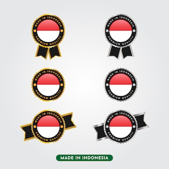 Set made in indonesia labels