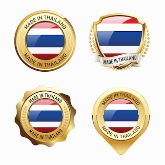 Set of made in thailand badges