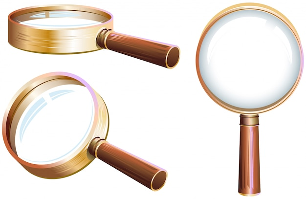 Set magnifying glass