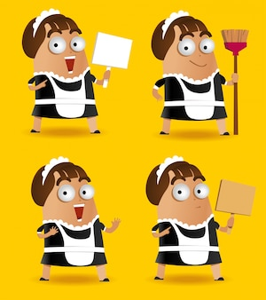 Set of maid