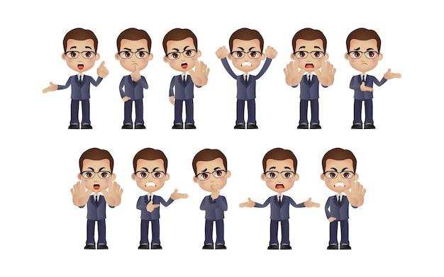 Set of man characters