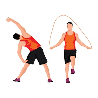 Set of man sport