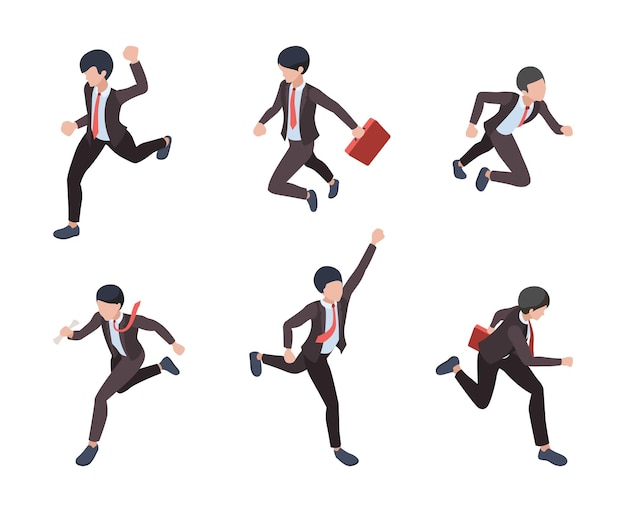 Set of managers running