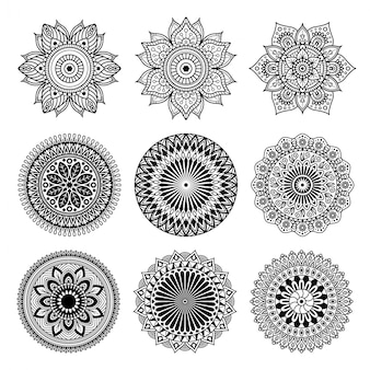 Set of mandala shape