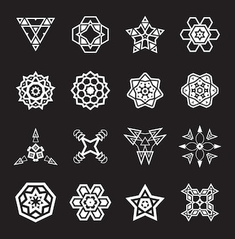 Set of mandalas
