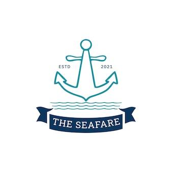 Set of marine logo badges premium vector