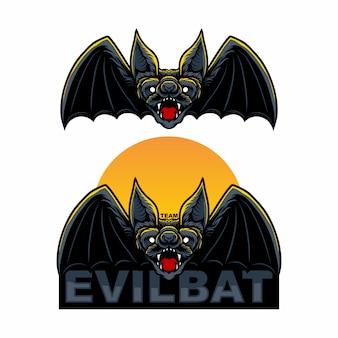 Set mascot logo bat