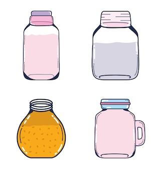 Set of mason jars collection