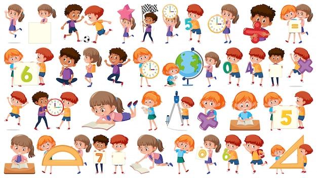 Set of math kids