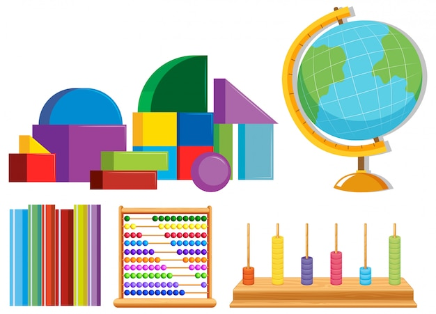Set of math toys