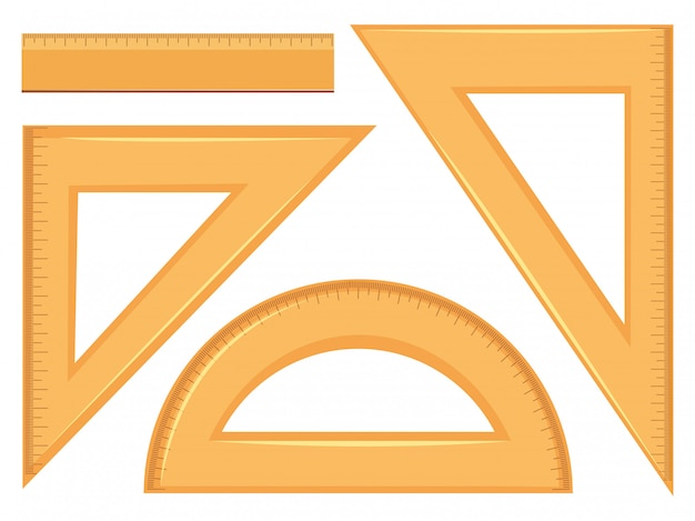 Set of mathematics geometry tools