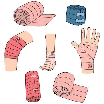Set of medical bandage