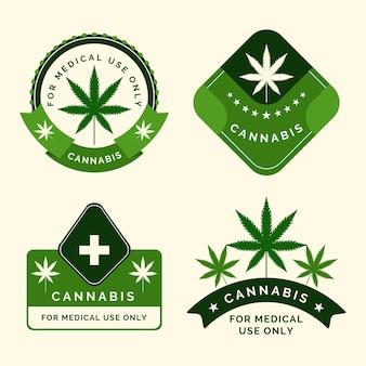 Set of medical cannabis badges