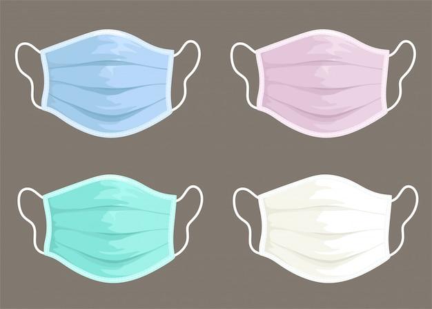 Set of medical face masks.
