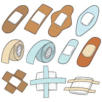 Set of medical plaster
