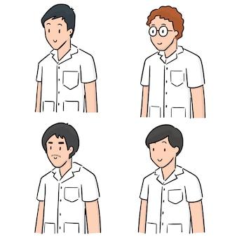 Set of medical staff