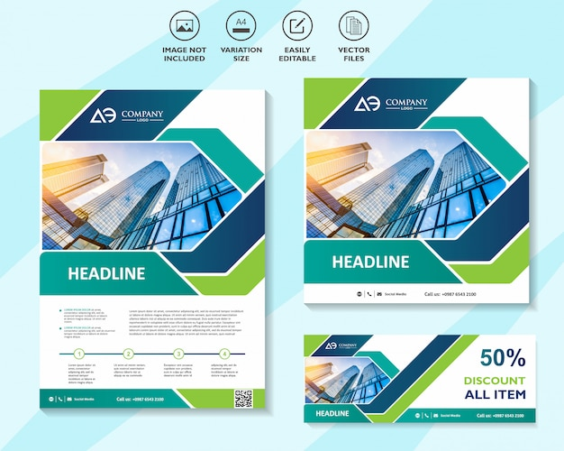 Set of mega sale flyer poster or banner design with best discount offers