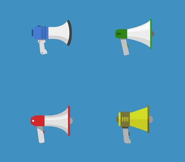 Set of megaphones