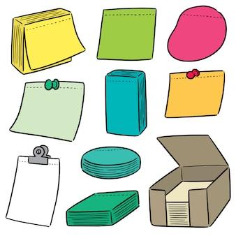 Set of memo note