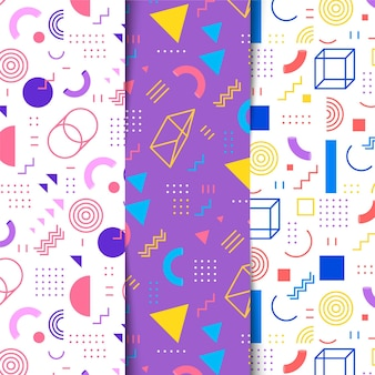 Set of memphis pattern