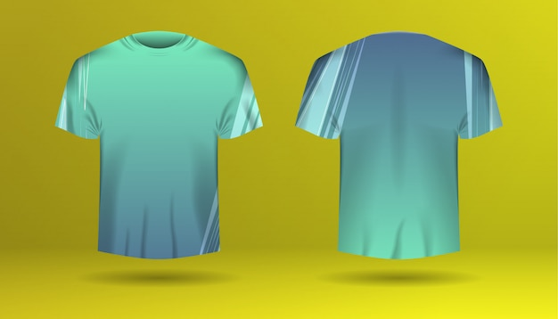 Set of men t-shirt with colorized template