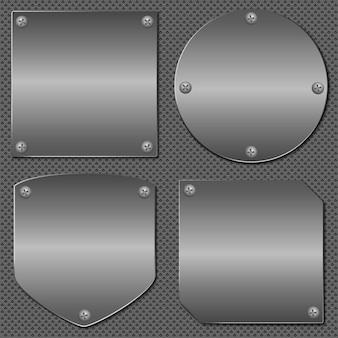 Set of metal boards