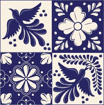 Set of mexican talavera tiles