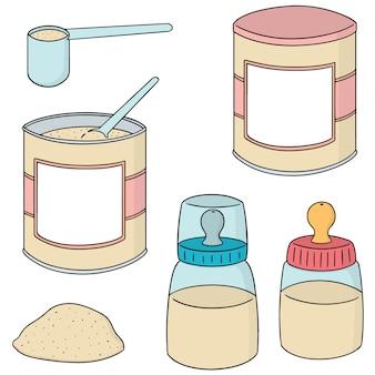 Set of milk powder