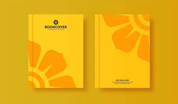 Set of minimal book cover template for your business