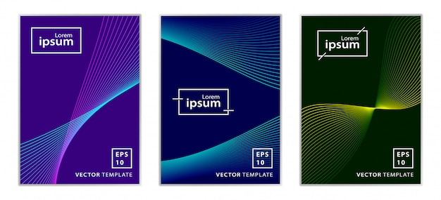 Set of minimal business brochure cover design