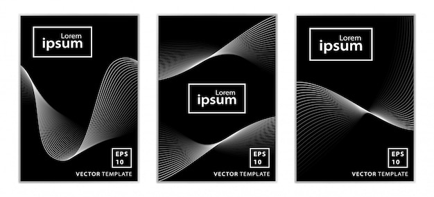 Set of minimal business brochure cover design