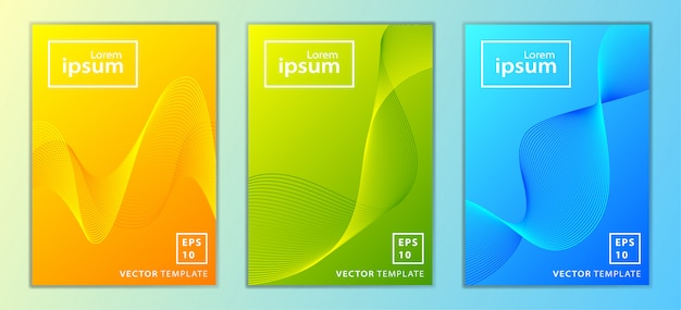 Set of minimal business cover template design