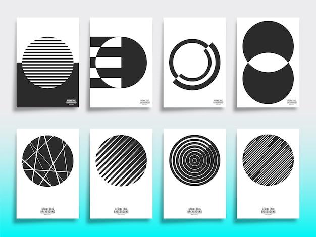 Set of minimal geometric cover template