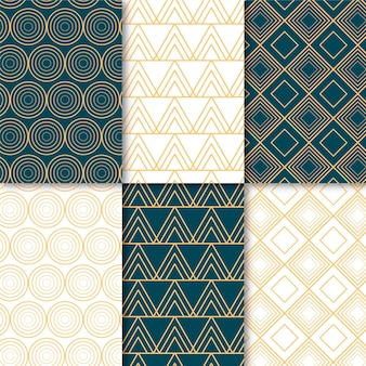 Set of minimal geometric pattern