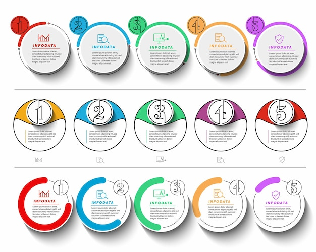 Set of minimal infographic template design promotion banner, scroll,  sticker, badge, price tag, offer poster.