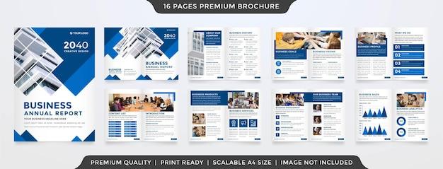 Set of minimalist business brochure template premium style