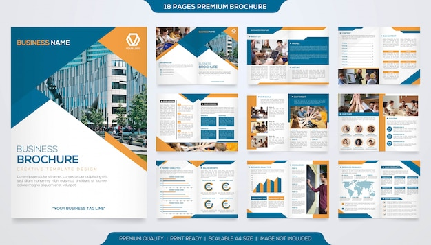 Set of minimalist business brochure template  vector