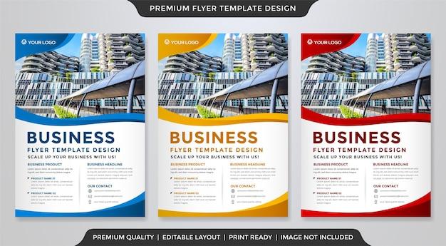 Set of minimalist flyer template
