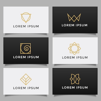 Set of minimalistic simple creative logo collection.