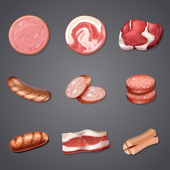 A set of mix meat product
