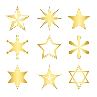 Set of mixed stars vector