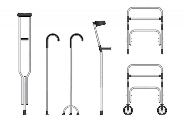 Set of mobility aids isolated