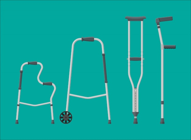 Set of mobility aids.
